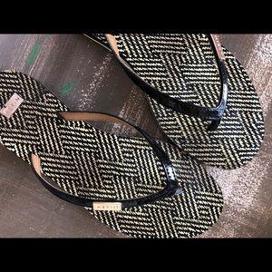 Aerin Black Patent Gabe Sandals Size 7M